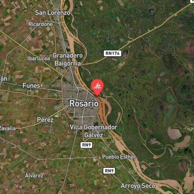 Maratón Acuática Internacional Ciudad de Rosario route