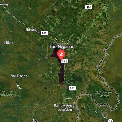 Traversée Internationale du lac Mégantic route