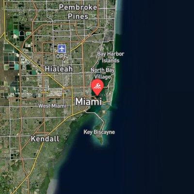 Swim Miami route