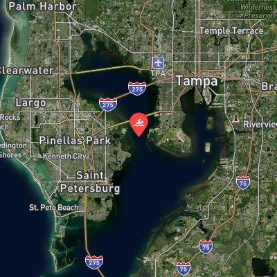 Tampa Bay Marathon Swim route