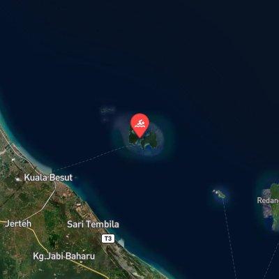 Perhentian Island Marathon Swim route