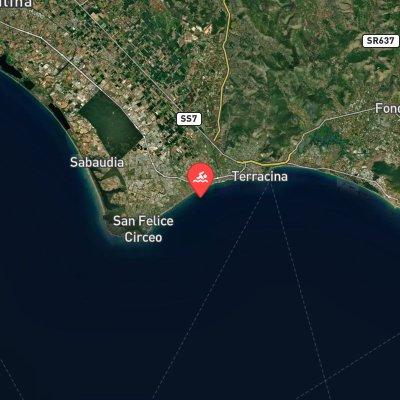 Terracina Circeo Terracina route