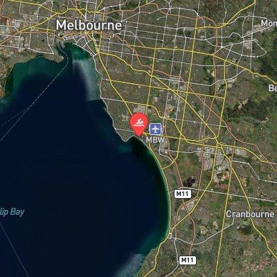 Mentone Marathon Swim route