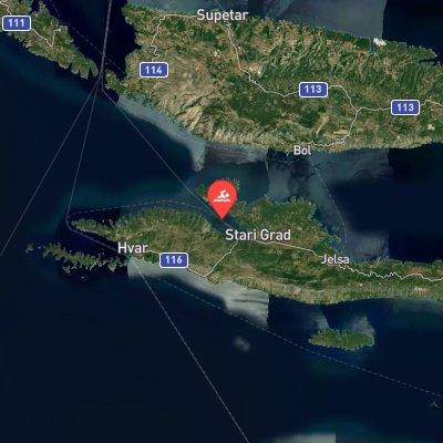 Faros Marathon Swim route