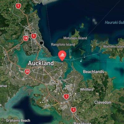 Auckland Marathon Swim route