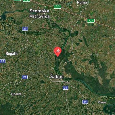 Jarak-Šabac Marathon Swim route