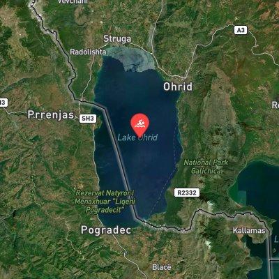 Ohrid Swim Marathon route