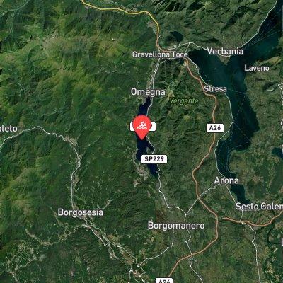 Lago D'Orta Marathon Swim route