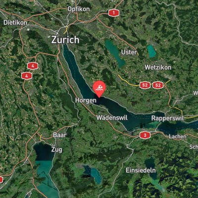Lake Zurich Marathon Swim route