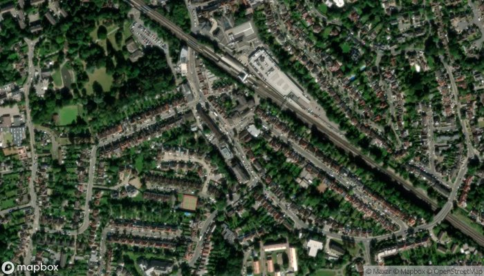 Pinner Library satellite image
