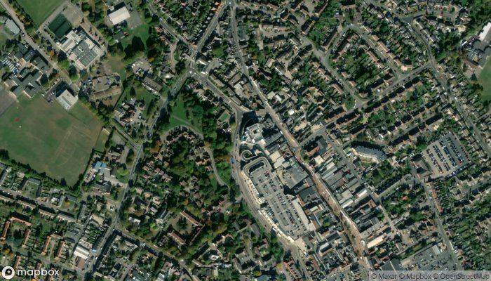 Bicester Library satellite image
