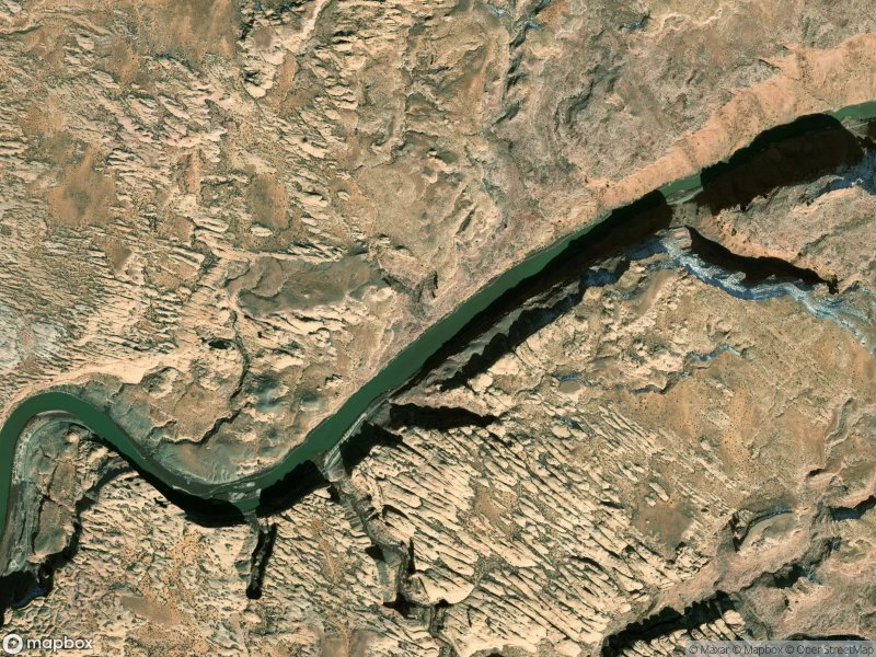 Satellite view of Moab