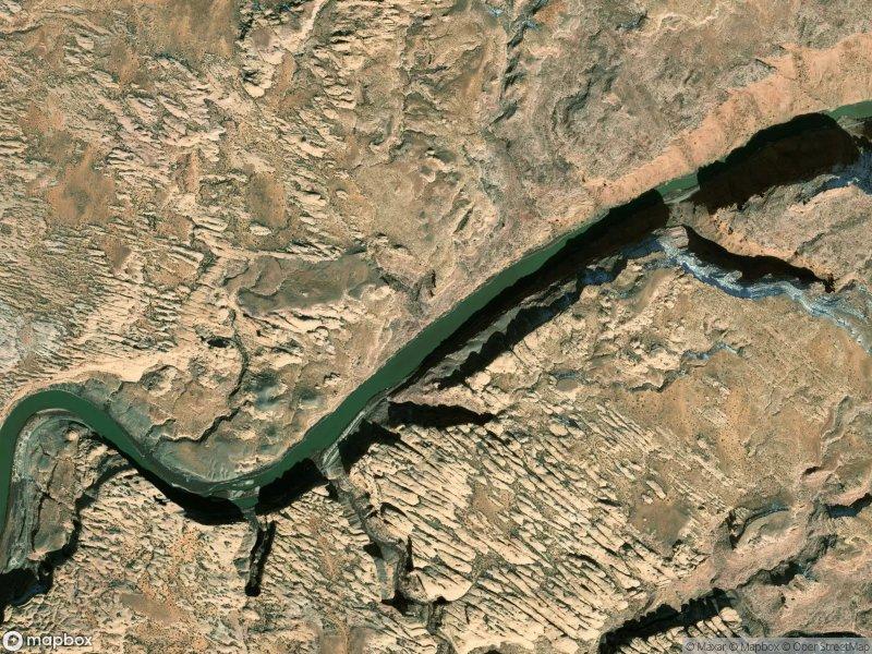 Vue satellite de Moab
