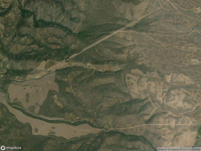 Satellite view of Paiute Trail