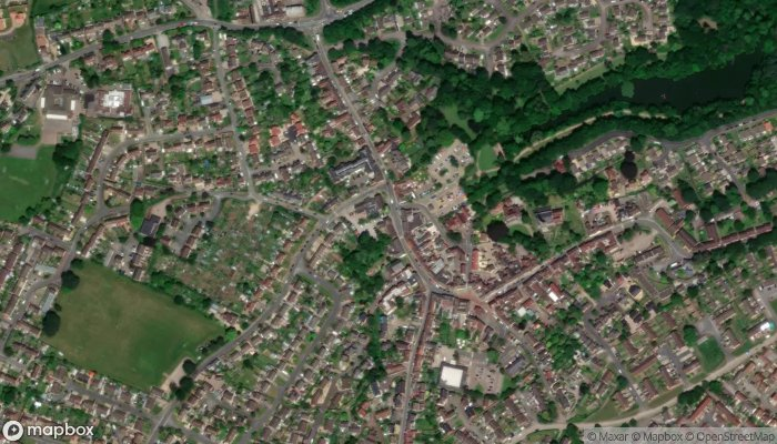 Newent Library satellite image