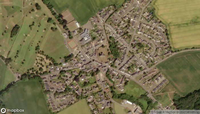 St Serfs Church Dupplin Cross Historic Scotland satellite image