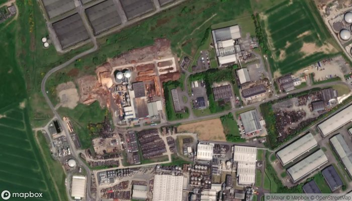 Land Energy Wood Pellet Factory Chp Plant satellite image
