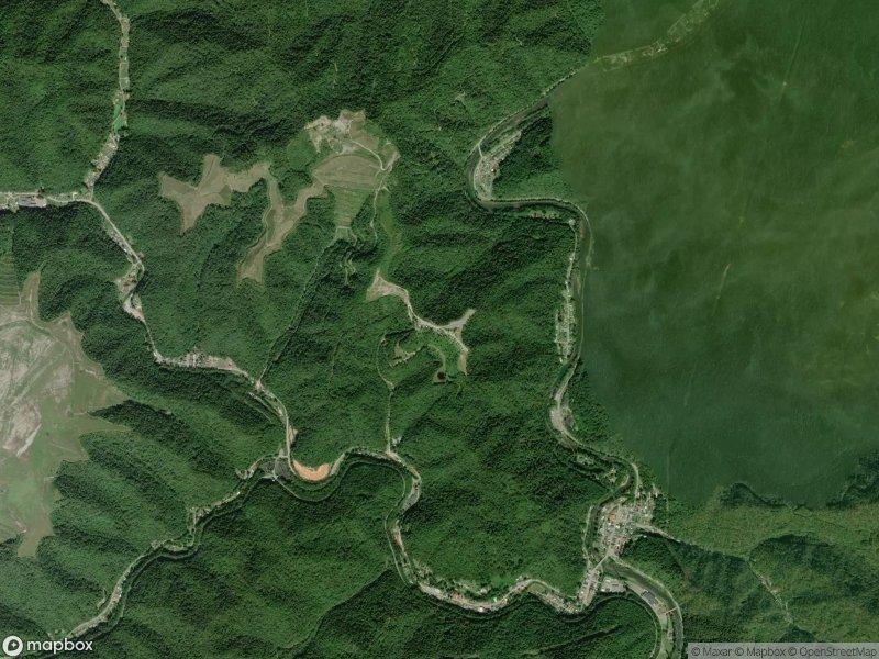 Vue satellite des pistes de Hatfield-McCoy