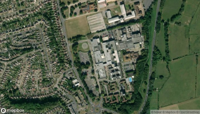 Eastbourne District General Hospital Emergency Department A E satellite image