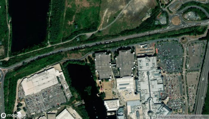 Young Driver Lakeside satellite image