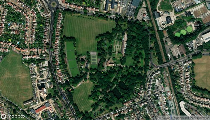 Priory Park satellite image