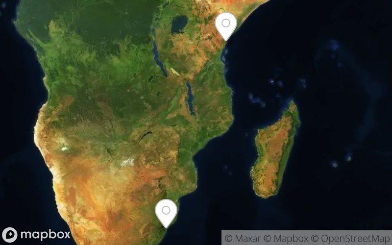 world map – hub and spoke