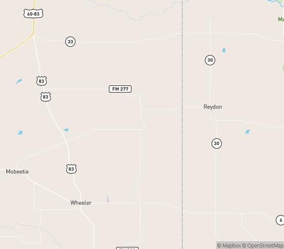 Map of Briscoe, TX