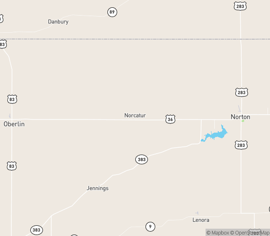 Map of Norcatur, KS