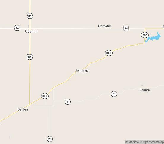 Map of Jennings, KS
