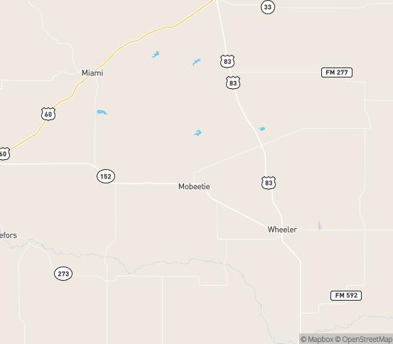 Map of Mobeetie, TX