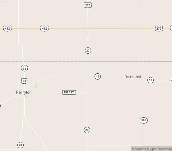 Map of Perryton, TX