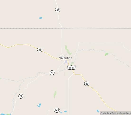 Map of Valentine, NE