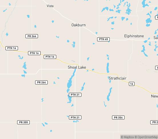 Map of Oakburn, MB