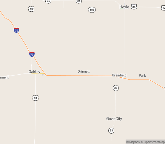 Map of Grinnell, KS