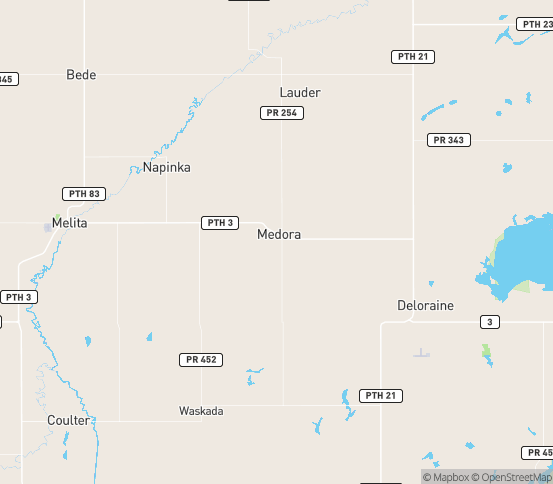 Map of Melita, MB