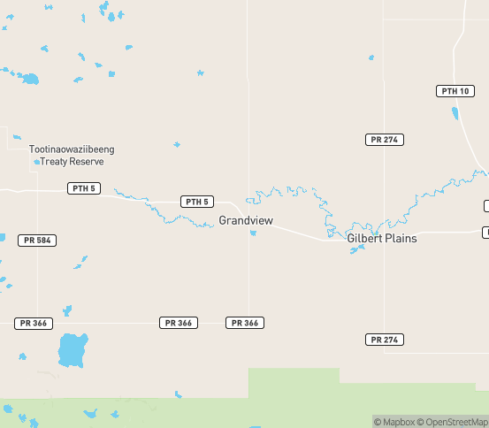 Map of Grandview, MB
