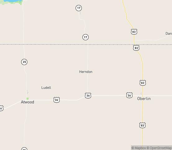 Map of Herndon, KS