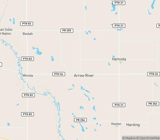Map of Crandall, MB