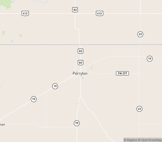 Map of Perryton, TX