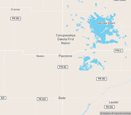 Map of Sinclair, MB