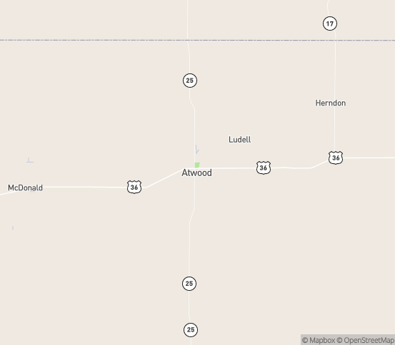 Map of Atwood, KS