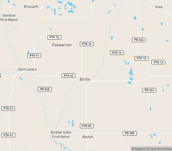 Map of Birtle, MB
