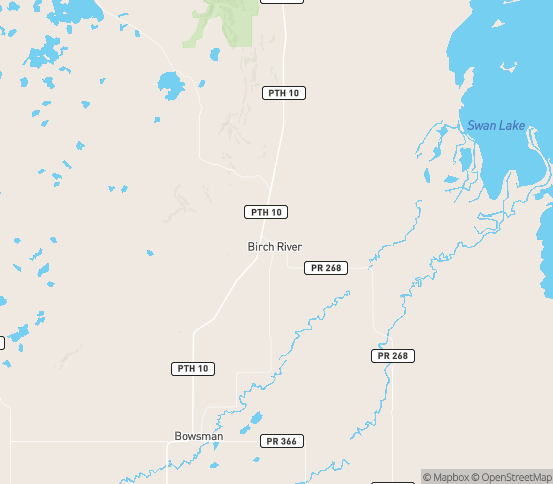 Map of Brampton, MB