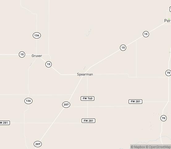 Map of Spearman, TX