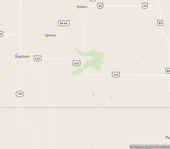 Map of Hardesty, OK