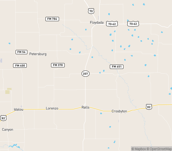 Map of Ralls, TX