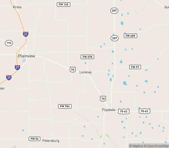 Map of Floydada, TX
