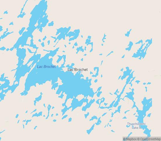 Map of Lac La Martre, MB