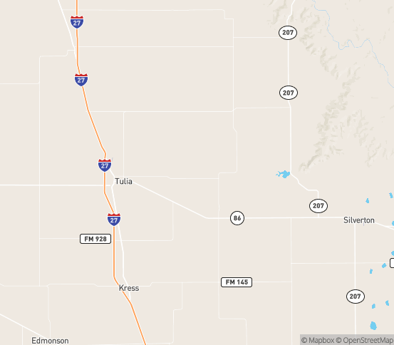 Map of Tulia, TX