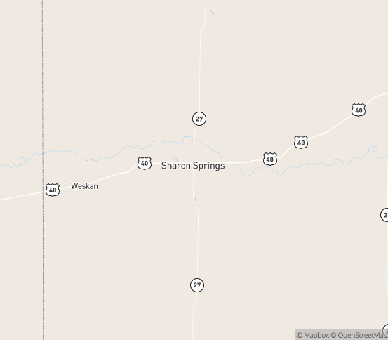 Map of Sharon Spgs, KS